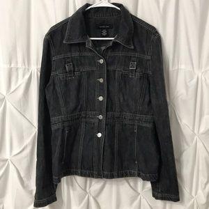 Calvin Klein Denim Jean Jacket w/buckled pockets